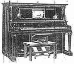 A 'Player piano', invented in 1863 by M. Fourneaux