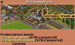 Farm with high production and only 57% transported