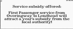 Passengers Service Subsidy Offer