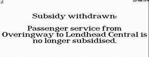Subsidy withdrawn