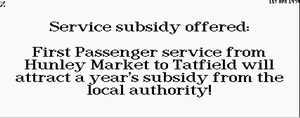 New Subsidy Offer
