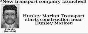 Hunley Market Transport starts construction near Hunley Market